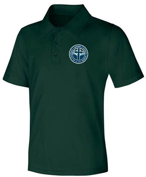 Unisex Hunter Green Performance Knit Polo with SCL Logo