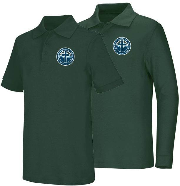 Unisex Hunter Green Smooth Interlock Knit Polo Shirt with SCL Logo