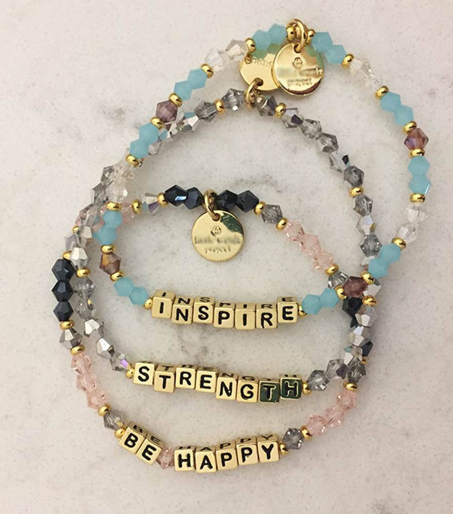 assorted little words bracelets