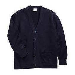 V-Neck Cardigan with Pockets, Navy