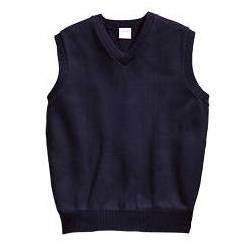 V-Neck Sweater Vest, Navy
