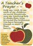 Verse Cards-A Teachers Prayer