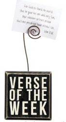 Verse of the Week Block Cube Holder