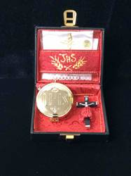 Viaticum Case with IHS pyx with Red Interior Viaticum Case, IHS, pyx, Salvardi, Natale, 51-01, sick call set, mass kit