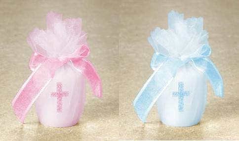 Votive Candle with Cross 179564.06,votive candle, pink cross candle, party favor, first communion gifts, first communion favors, tulle bag, party decor, first communion decor, sacramental gift, baptism gift, 179564.06