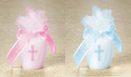 Pink Cross Votive Candle