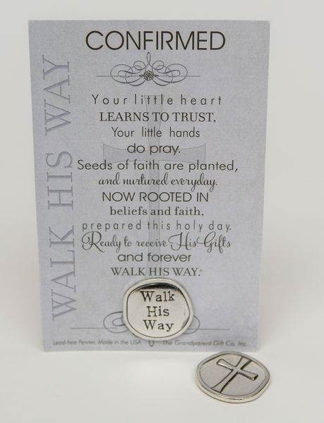 Walk His Way Confirmed Coin with Sentiment Card