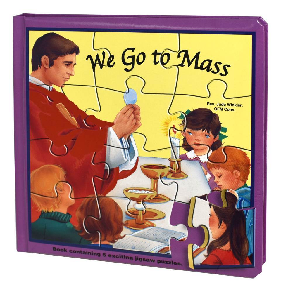 We Go To Mass (Puzzle Book) St. Joseph Puzzle Book: Book Contains 5 Exciting Jigsaw Puzzles