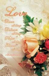 "Wedding Bulletin - Letter size 1 Corinthians 13:7 Size: 8 1/2 x 11"" flat Priced per pack of 100"