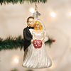 Wedding Couple Glass Ornament
