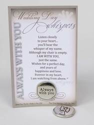 Wedding Day Whispers Handmade Pewter Coin