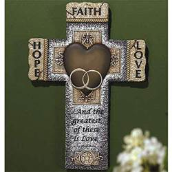 Wedding Wall Cross wedding gift, wedding cross, wall cross, trendy cross, message cross, home decor, shower gift,46218C