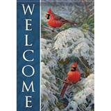 Welcome Cardinals Garden Flag