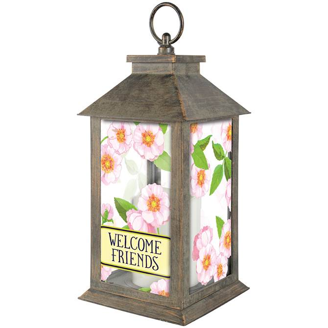 Welcome Friends LED Lantern