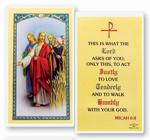 What the Lord Asks (Micah 6:8) Laminated Prayer Card