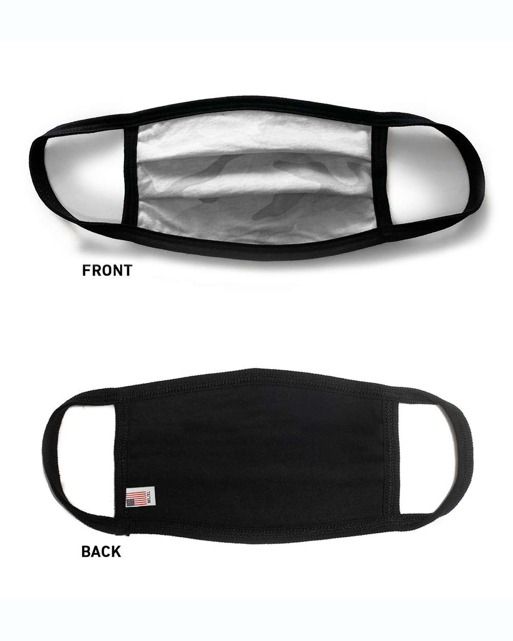 White Camo Adult Face Mask