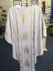 White Chasuble with Collar