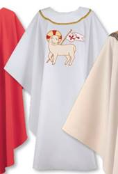 White Chasuble with Triumphant Lamb