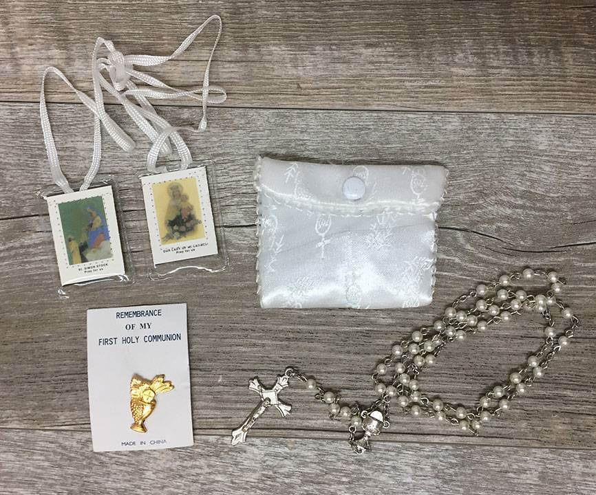 White First Communion Set