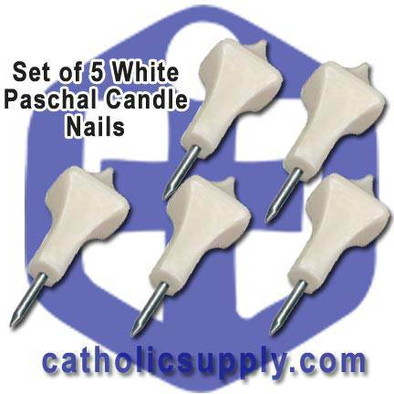 White Paschal Nails Set/5