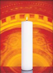 White Pillar Candle-Box of 4