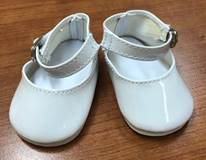 "White Shoes for 18"" Doll"