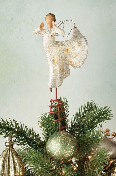 Willow Tree™  Song of Joy Tree Topper treetopper, tree top, angel statue, angel tree topper, angel treetopper
