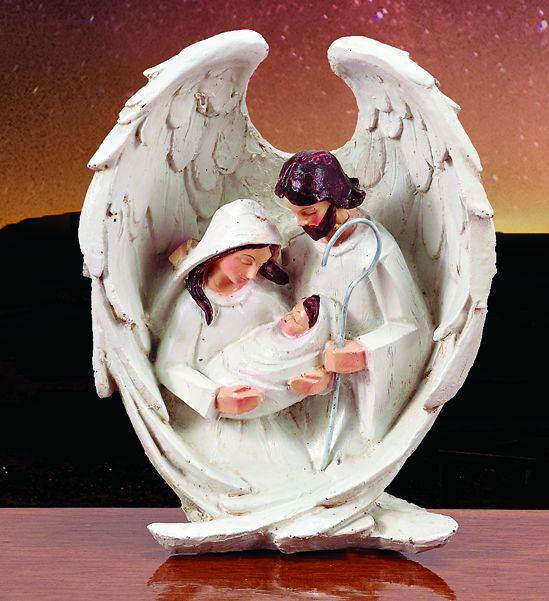 Winged Holy Family Figure