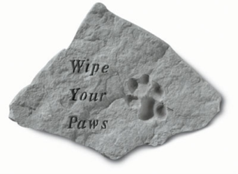 Wipe Your Paws Gardenstone
