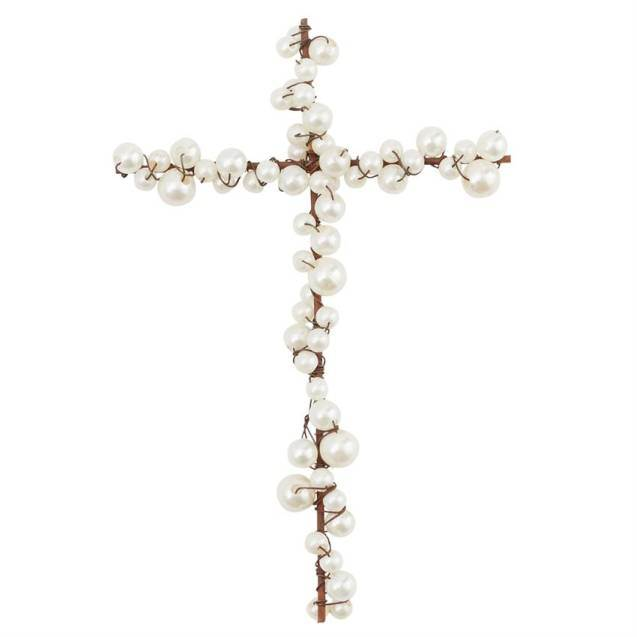 Wire and Pearl Cross