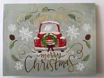 """Wishing You A Merry Christmas"" Note Cards With Gold Foil Inside Reads: ""....and a happy New Year!"" Box of 20 4""x5"" petite cards and envelopes $12.95 Made in USA"
