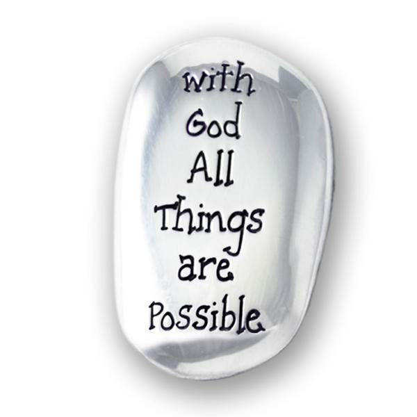 With God All Things Are Possible Thumb Stone