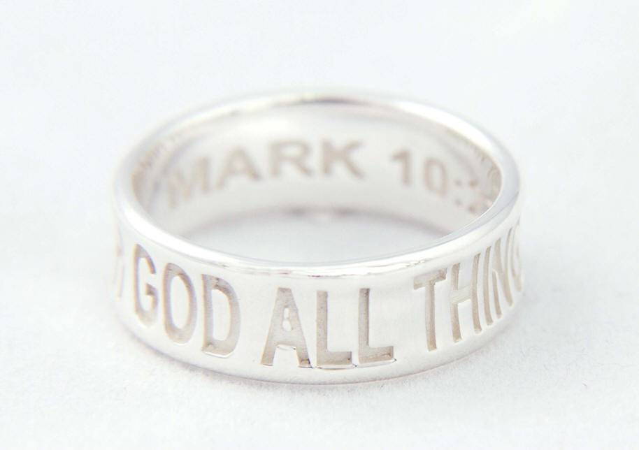 With God All Things Are Possilbe' Ring