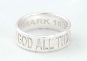 With God All Things Are Possilbe Ring