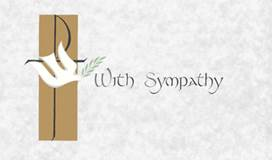 With Sympathy Mass Card, Box of 100