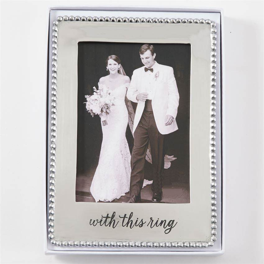 With this Ring Microbead Wedding Frame
