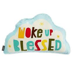 Woke Up Blessed Small Pillow