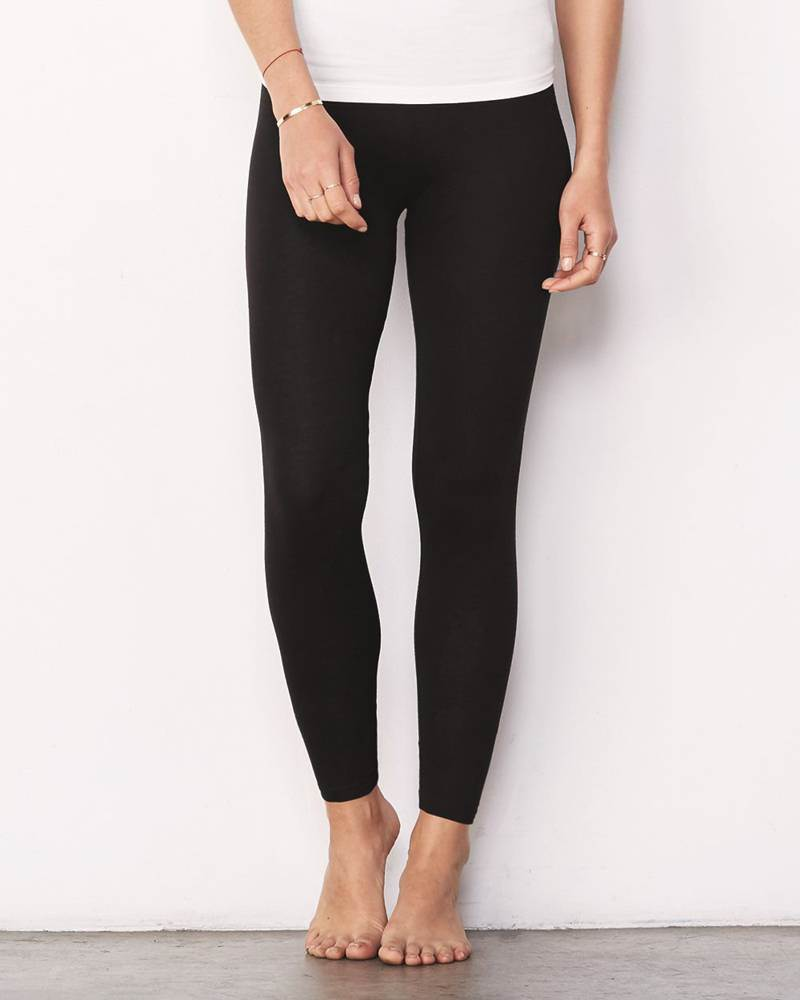 Women's Spandex Jersey Legging, Black