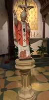 Wood Carved Saint Pope John Paul II Statue
