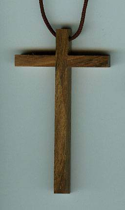 Wood Cross on Cord