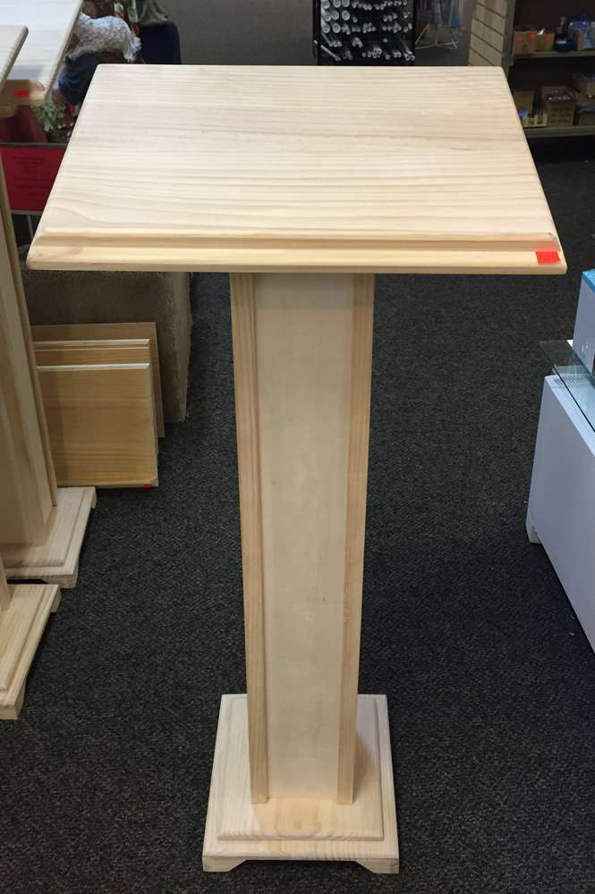 Wood Lectern With Cross