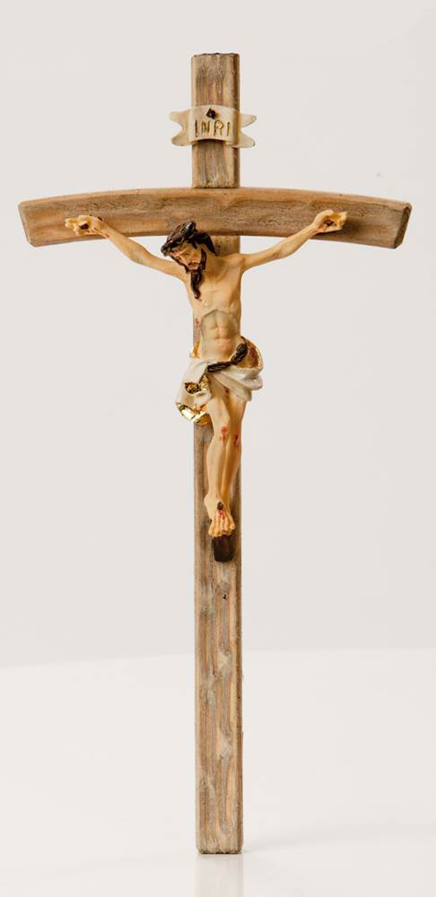 Wood Look Wall Crucifix *WHILE SUPPLIES LAST* wall crucifix, wall cross, wedding gift, first communion gift, confirmation gift, sacramental gift, new home gift, church cross, school cross