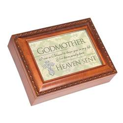 Woodgrain Godmother Music Box Plays, How Great Thou Art