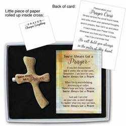 YOUVE ALWAYS GOT A PRAYER PRAYER CROSS GIFT BOXED W/CARD