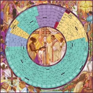 Year of Grace Liturgical Calendar Laminated Poster  liturgical calendar, laminated calendar, church calendar, wall calendar, school calendar, church calendar, 978-1-61671-094-1,9781616710941