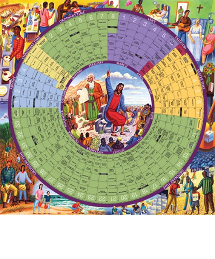 2022 Year of Grace Liturgical Calendar - Paper Poster