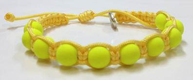 Yellow Rosary Bracelet with Story Card