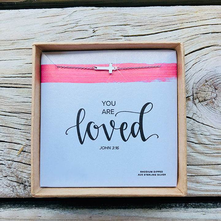 You are Loved Necklace Silver