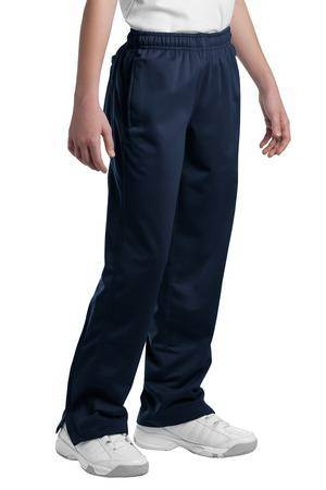 Navy Performance Track Pants, Youth, No Logo - PTYPST91