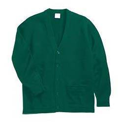 V-Neck Cardigan with Pockets, Hunter Green